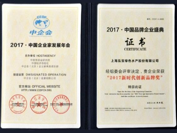 泓宝-2017新时代创新品牌奖